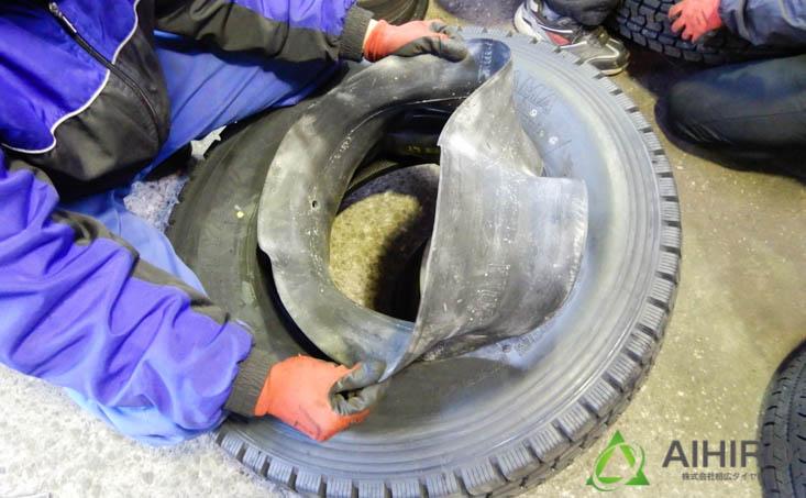 相広タイヤ リング付きホイール タイヤ交換 フラップ