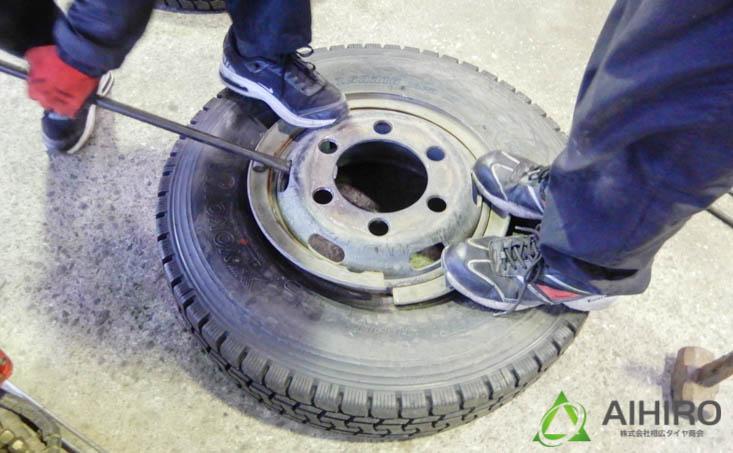 相広タイヤ リング付きホイール タイヤ組み換え