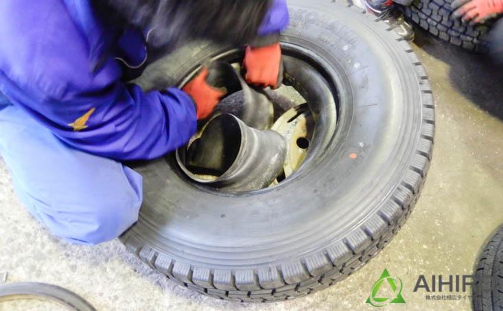 相広タイヤ タイヤ組み換え タイヤ交換 リング付き