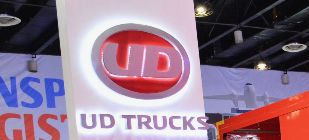 PASAY, PH - AUG. 17: UD Trucks exhibit booth on August 17, 2018 at Transport and Logistics in World Trade Center Metro Manila, Pasay, Philippines.