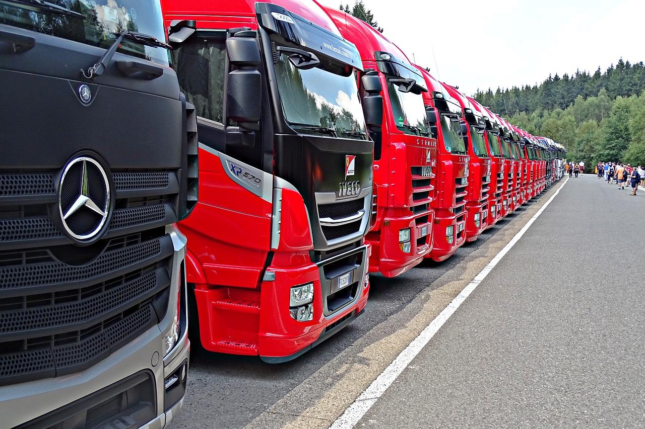 トラック 横向き並び